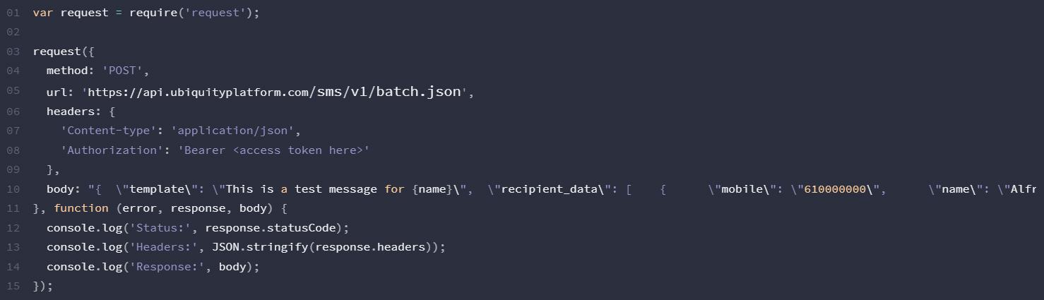 NodeJS-SMS-API-Ubiquity-Platform-Gomeeki